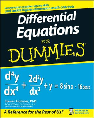Differential Equations For Dummies By Holzner, Steven